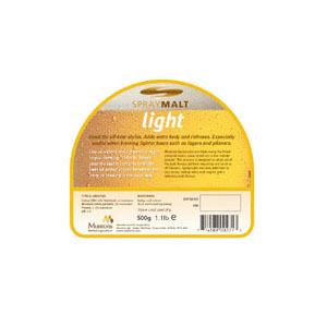 Сухой неохмелённый солодовый экстракт Muntons Light 0,5 кг.