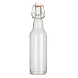 Бутылка с бугельной пробкой 0.5л прозрачная