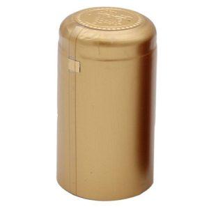 Термоусадочный колпачок на бутылку золотистый